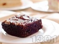Рецепта Шоколадов сладкиш с кафе, прясно мляко, какао и ванилия